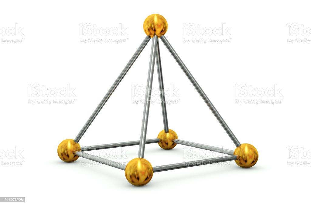 Sticks and beads rectangular pyramid stock photo