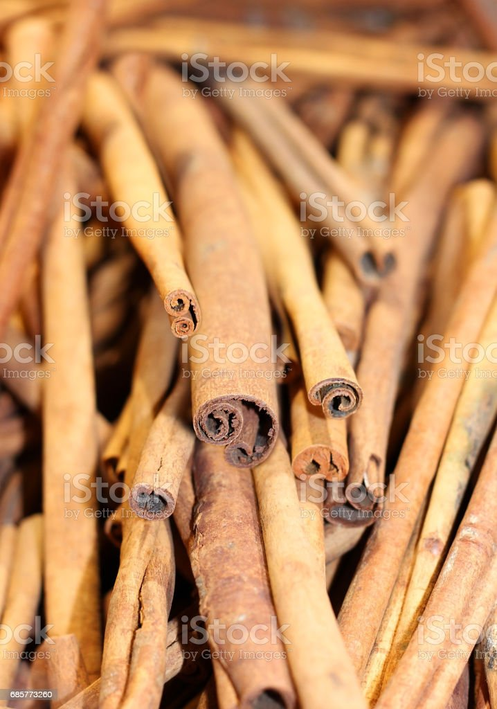 sticks of cinnamon stock photo