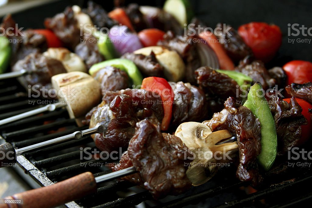 BBQ sticks stock photo