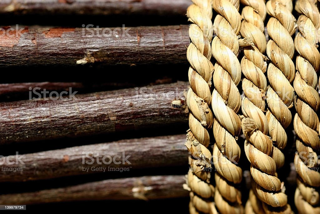 Sticks with Rope royalty-free stock photo