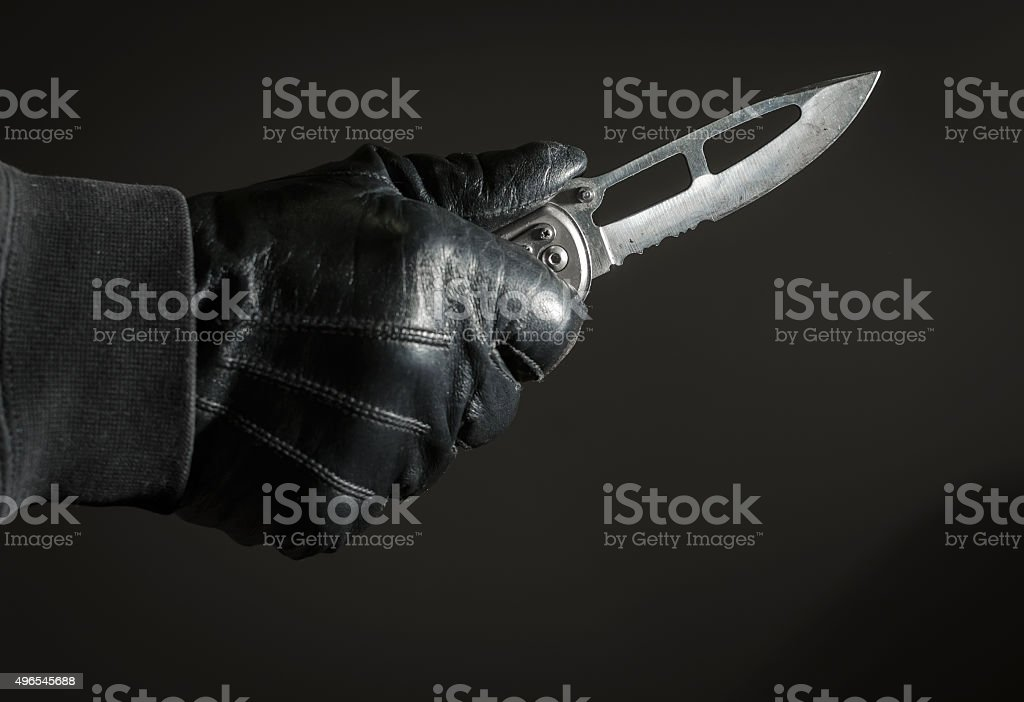 Stickup - Armed Robbery stock photo