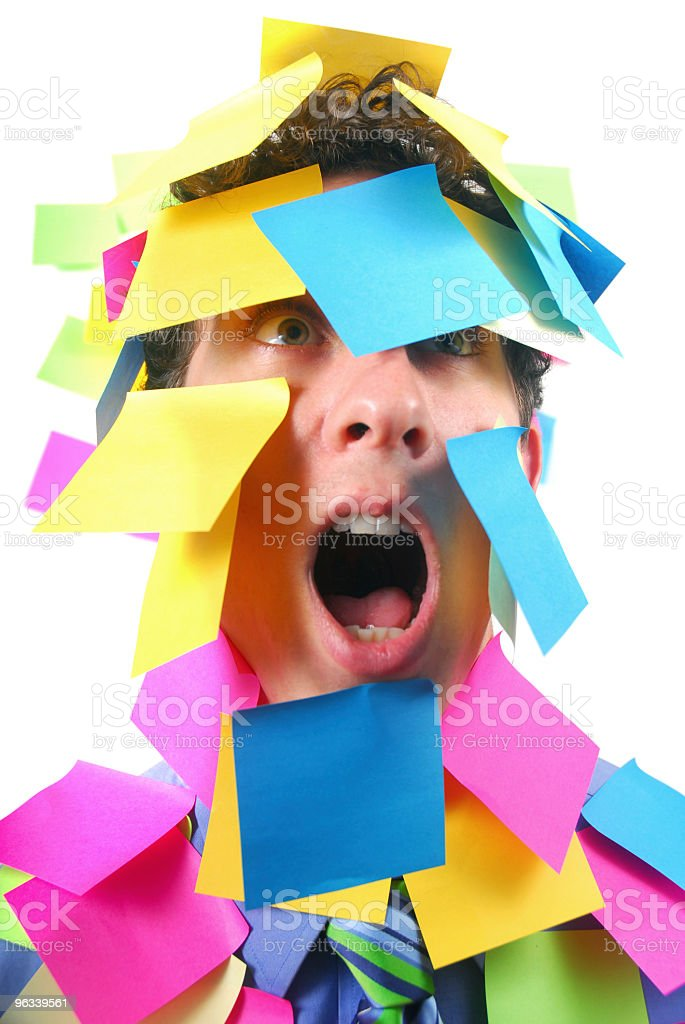 Sticky Covered Worker royalty-free stock photo