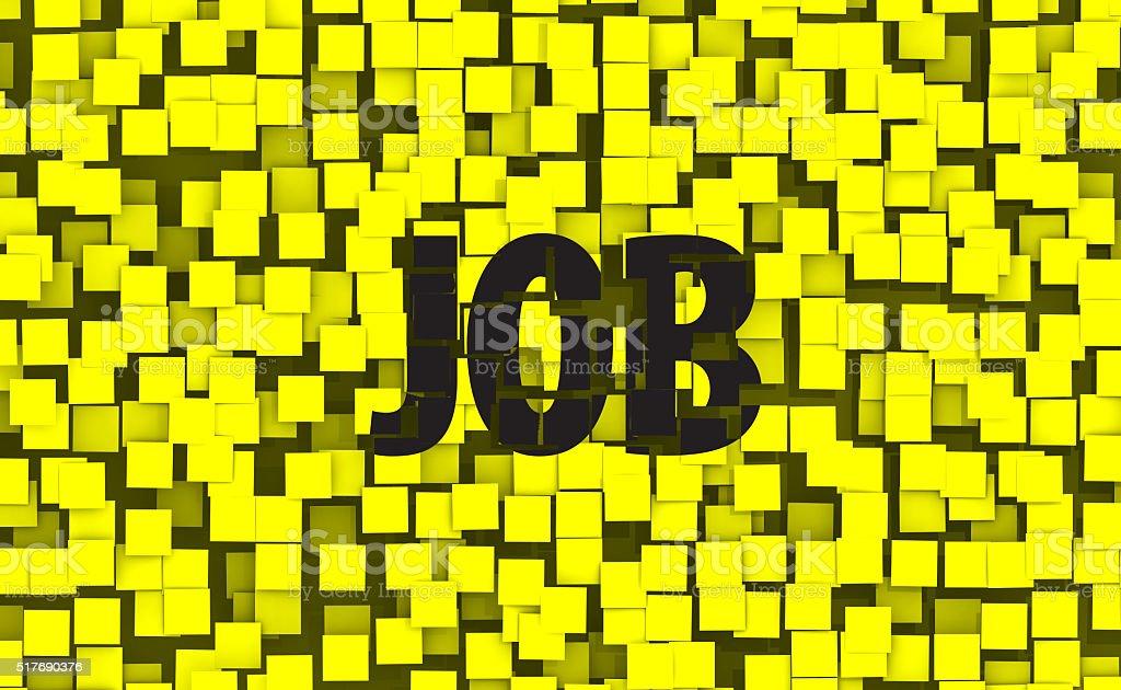 Sticky Job Wall stock photo