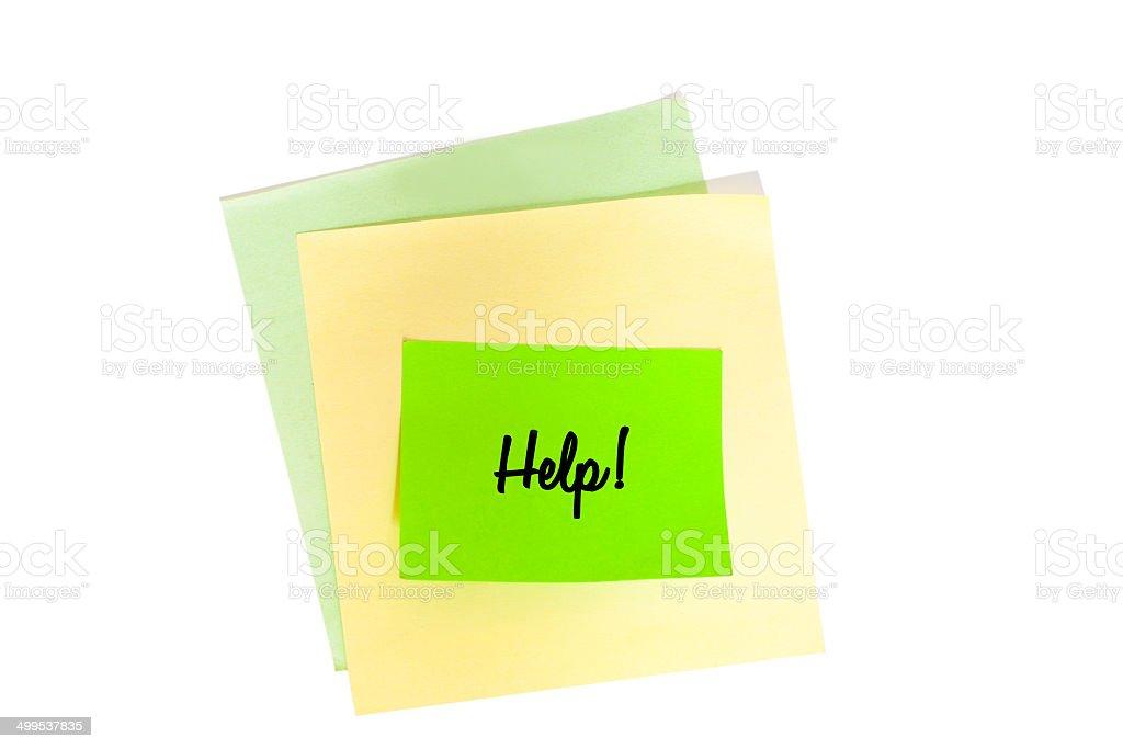 Sticky note Help royalty-free stock photo