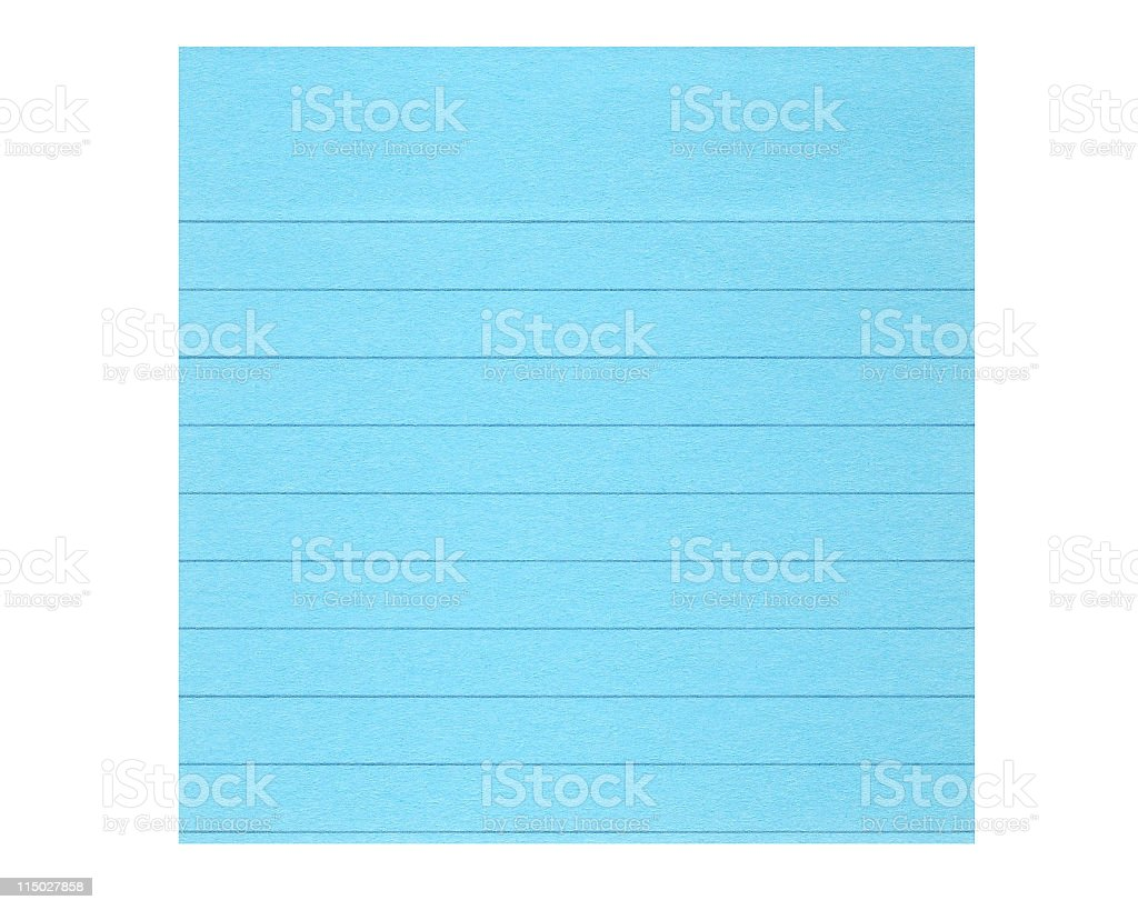 Sticky Note Lined Paper stock photo