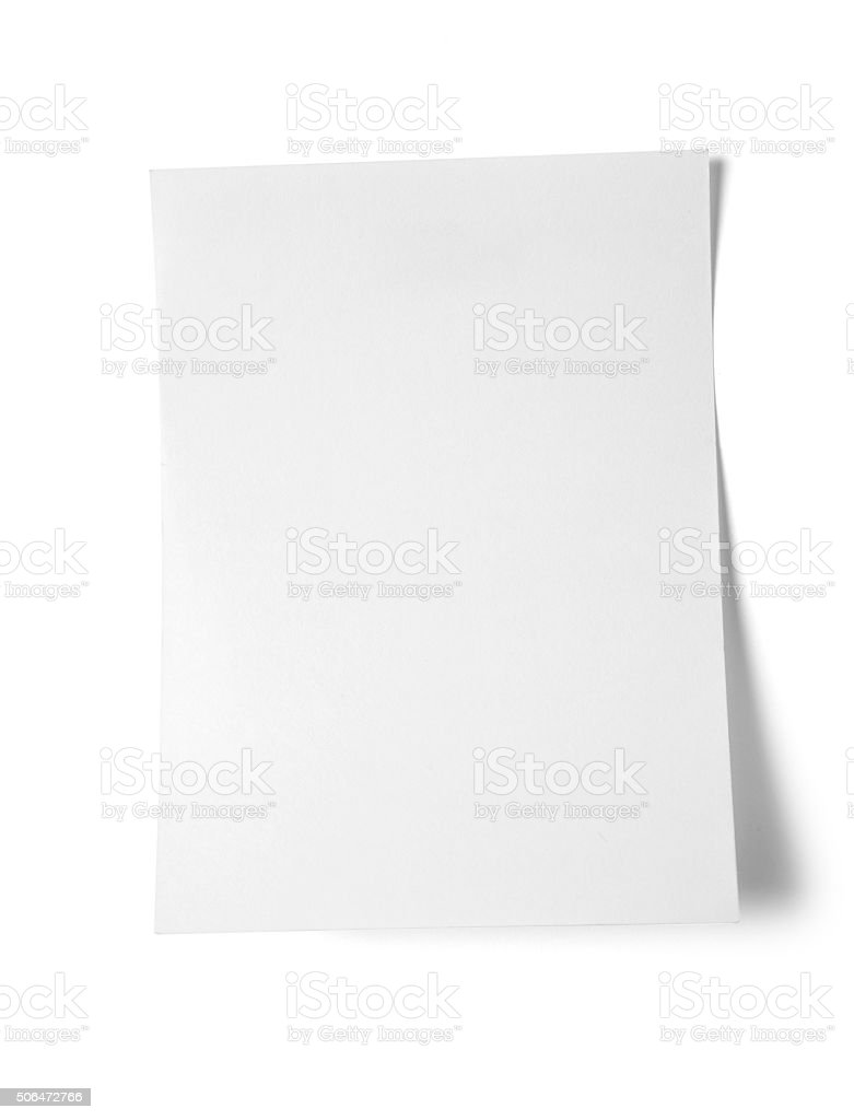 Sticky note on white background stock photo