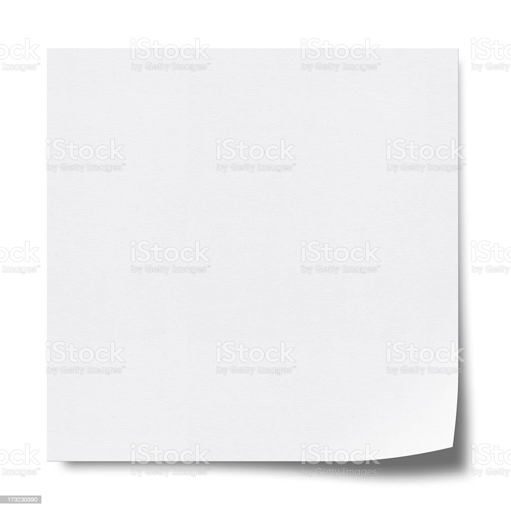 Sticky Note (Clipping Path) royalty-free stock photo