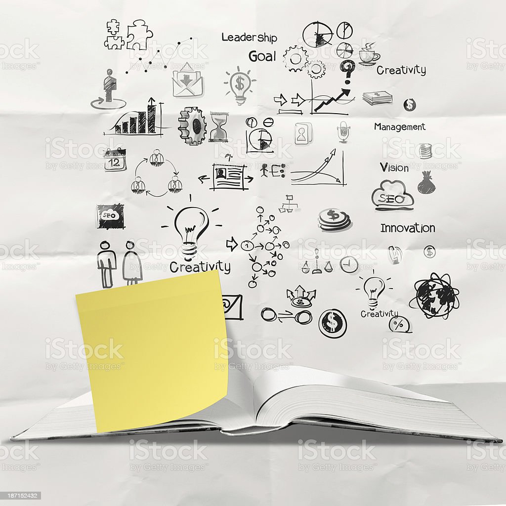 sticky note time to learn royalty-free stock photo