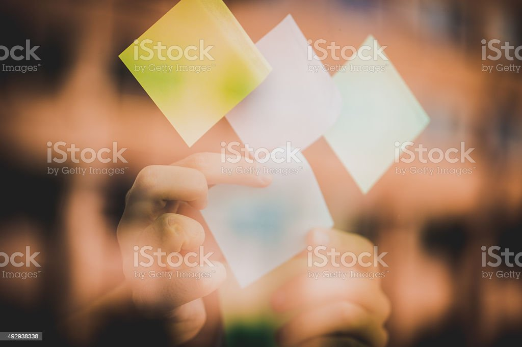 Sticky notes stock photo