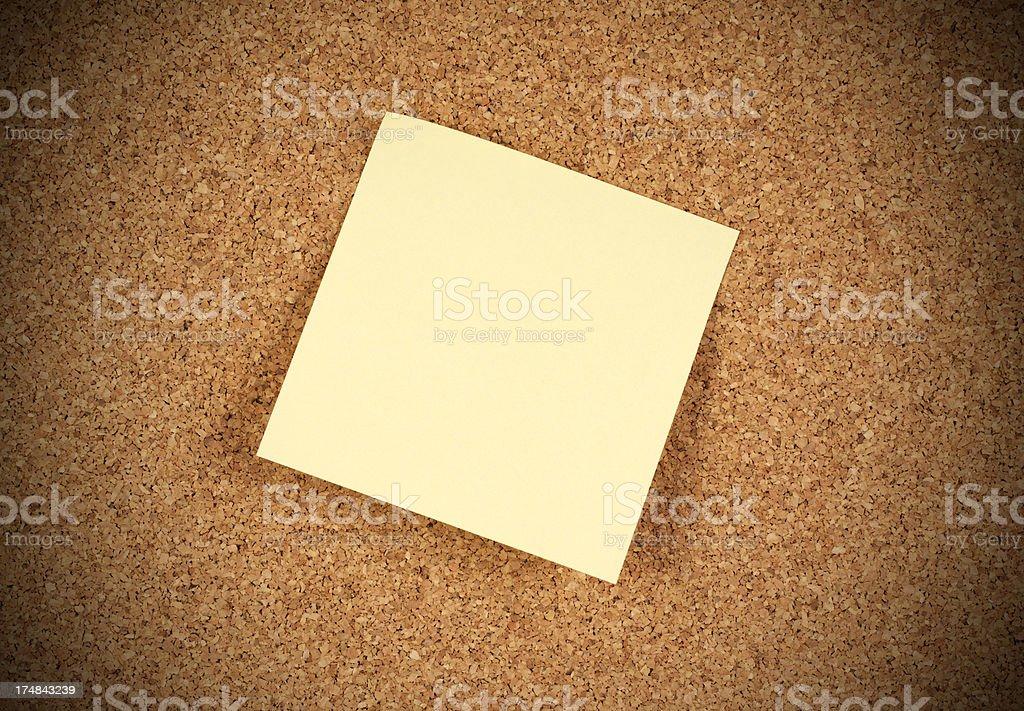 Sticky on corkboard royalty-free stock photo