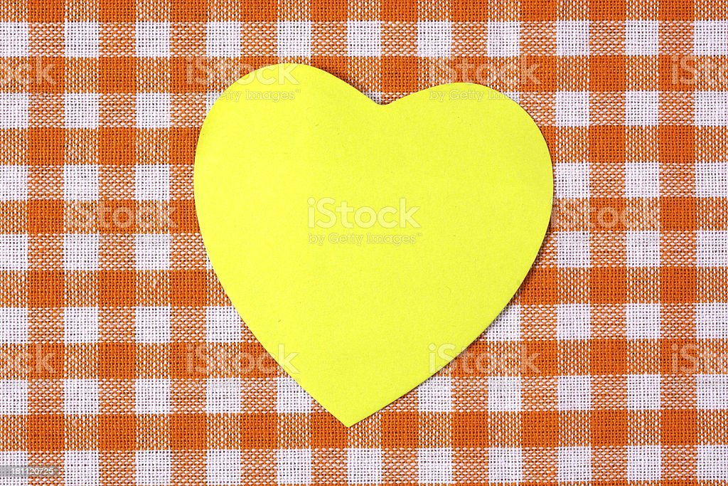 Sticky on orange tablecloth royalty-free stock photo