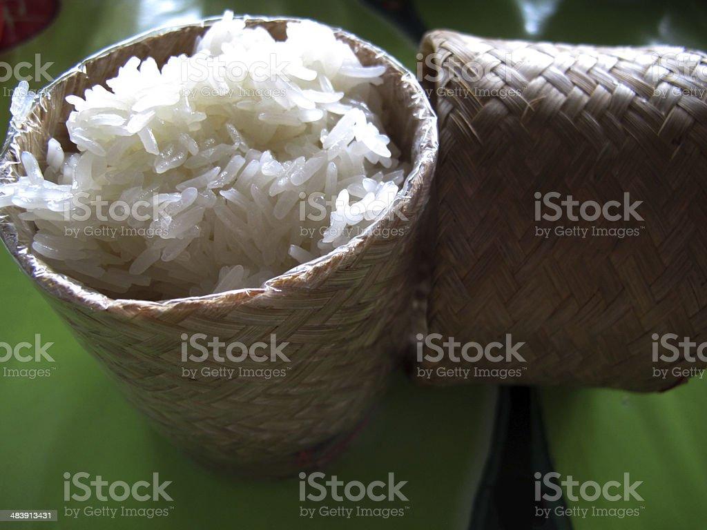 Sticky or Glutinous Rice stock photo