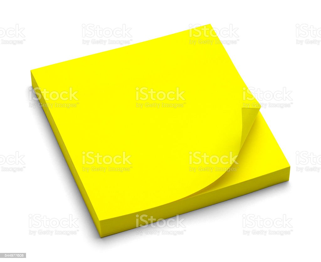 Sticky Pad stock photo