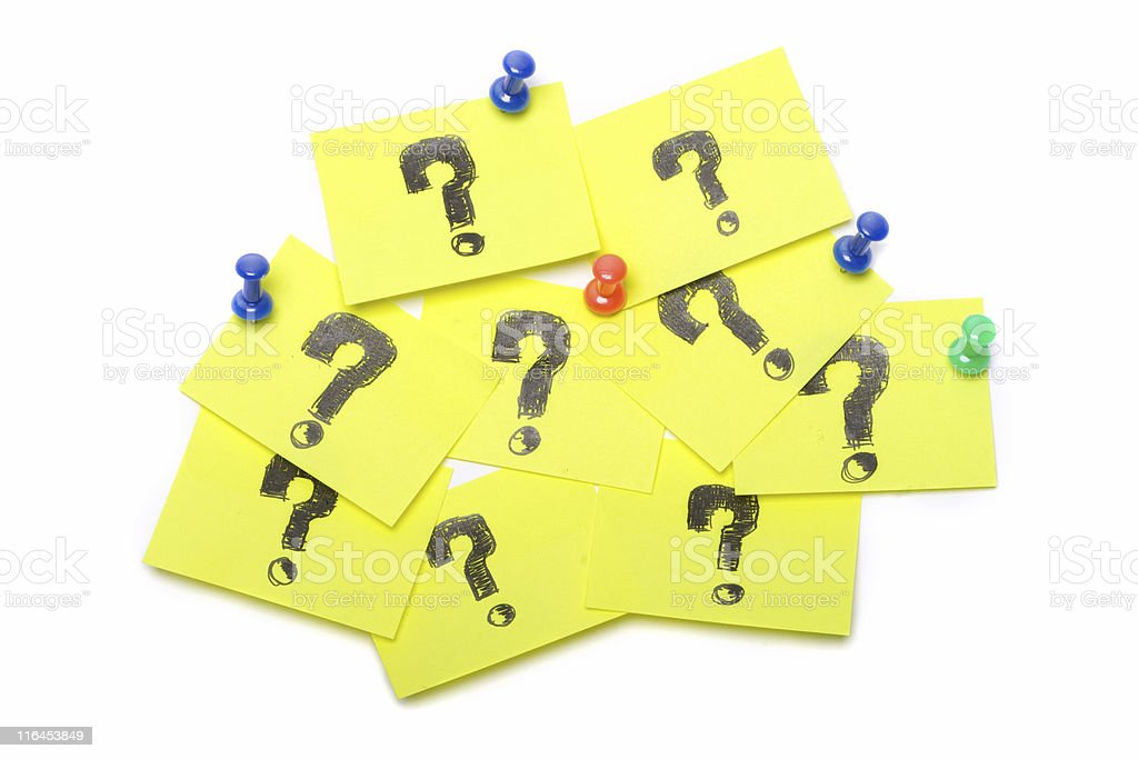 Sticky question royalty-free stock photo