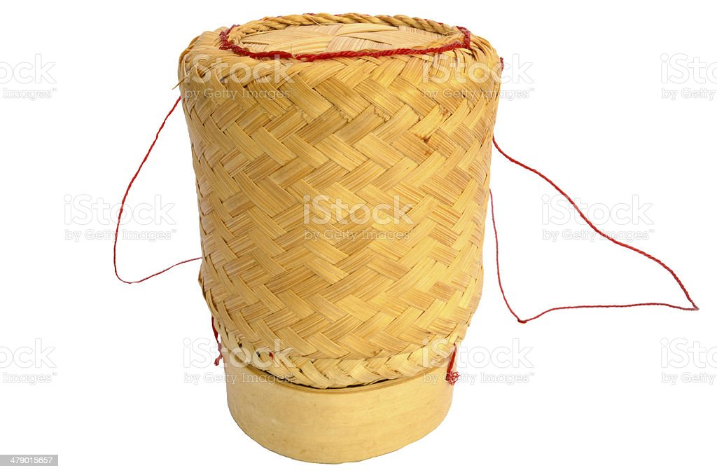 Sticky rice pot stock photo