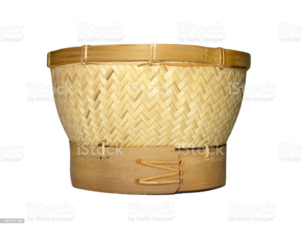 Sticky rice steamer basket stock photo