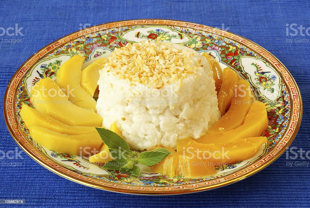 Sticky rice with mango royalty-free stock photo