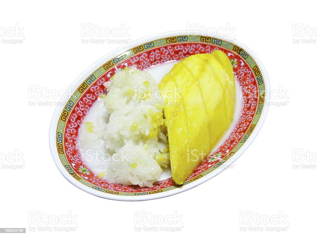Sticky Rice with mango Thai Food royalty-free stock photo