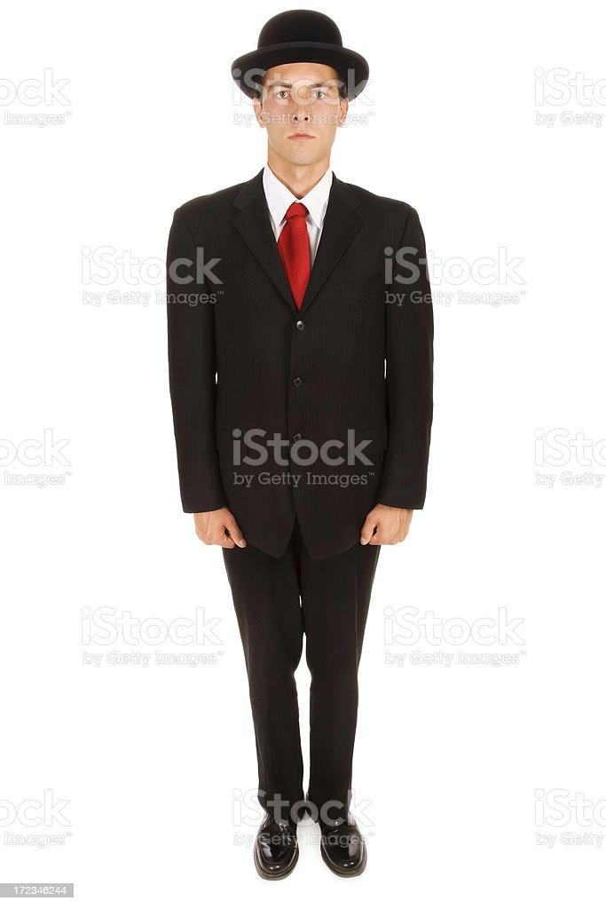 Stiff Businessman royalty-free stock photo