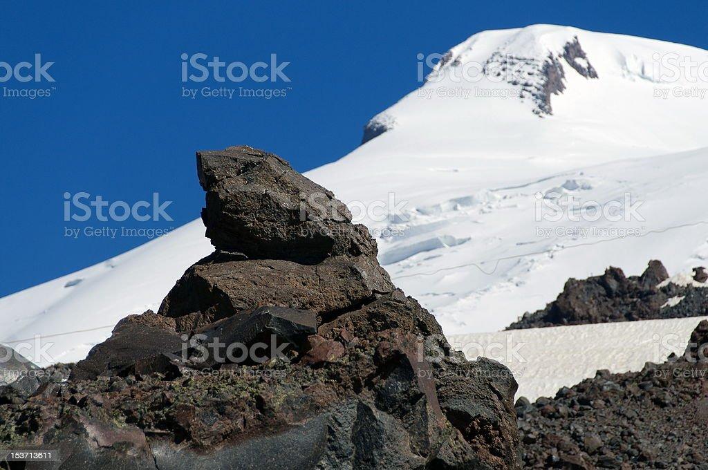 Stiffened rock royalty-free stock photo
