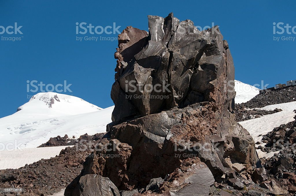 Stiffened rock royalty-free stock photo
