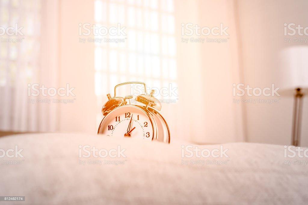 Stil life with alarm clock stock photo