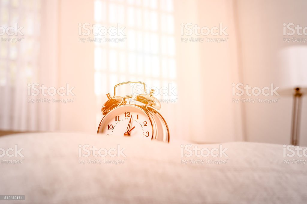 Stil life with alarm clock stock photo