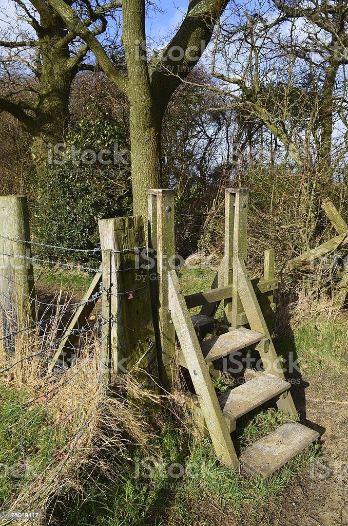 Stile gate. stock photo