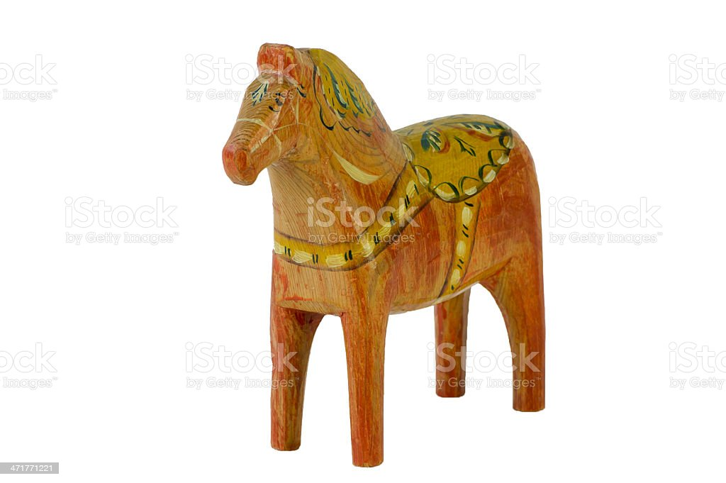 Still an old Dala Horse stock photo