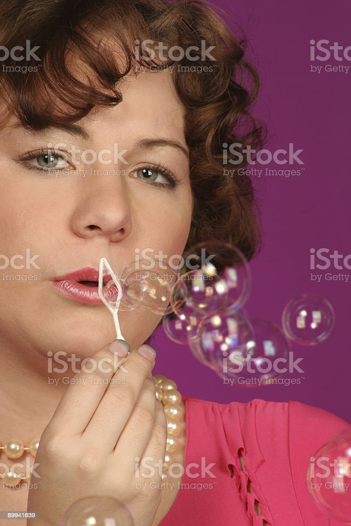 still blowing bubbles royalty-free stock photo