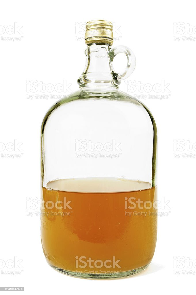 Still Cloudy Cider In A Glass Flagon royalty-free stock photo