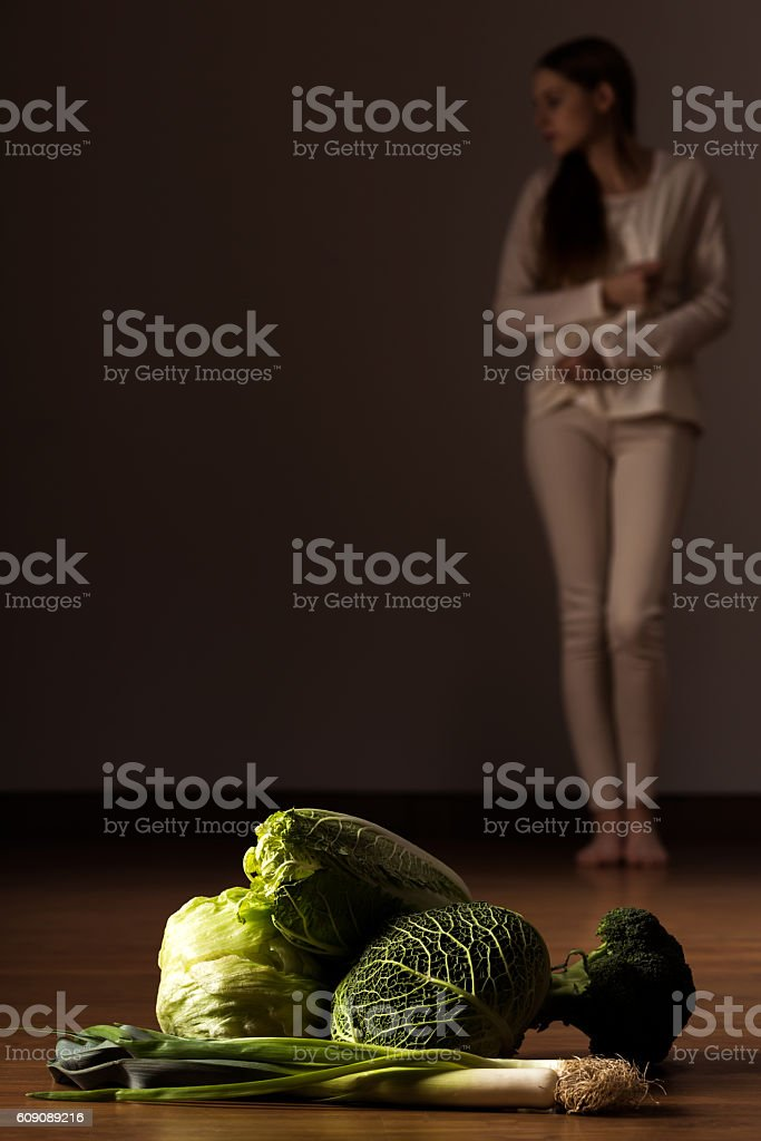 Still eating less and less stock photo