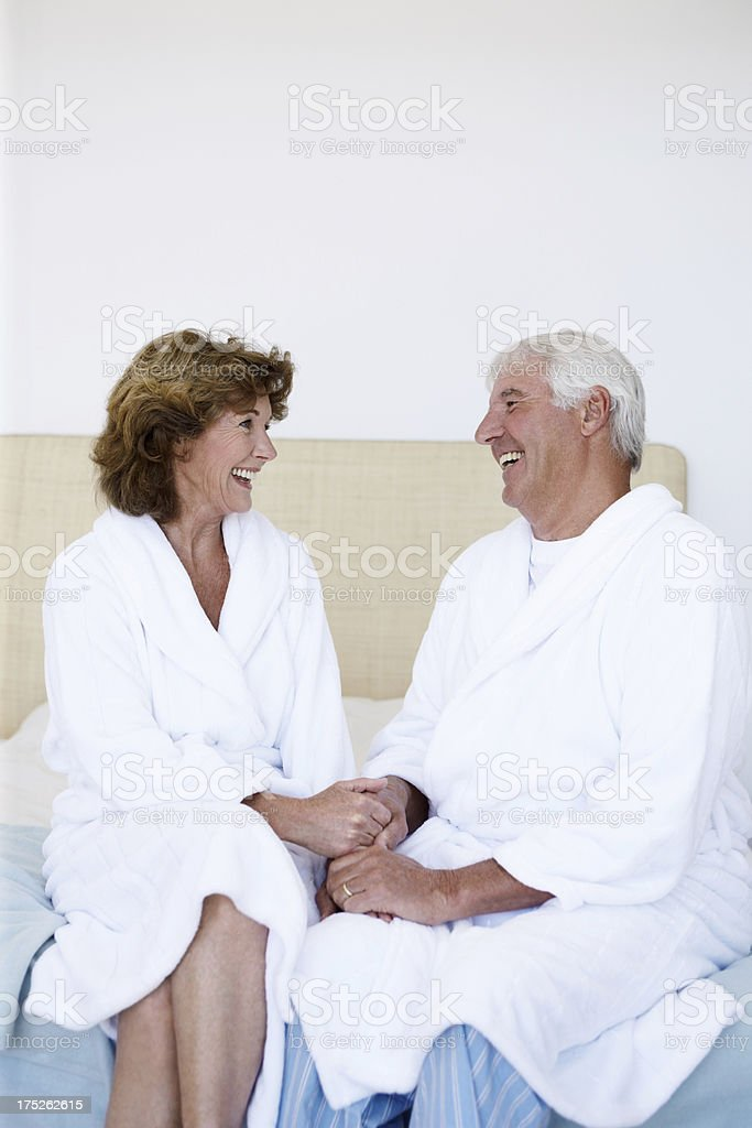 Still enjoying each other's company after many years royalty-free stock photo