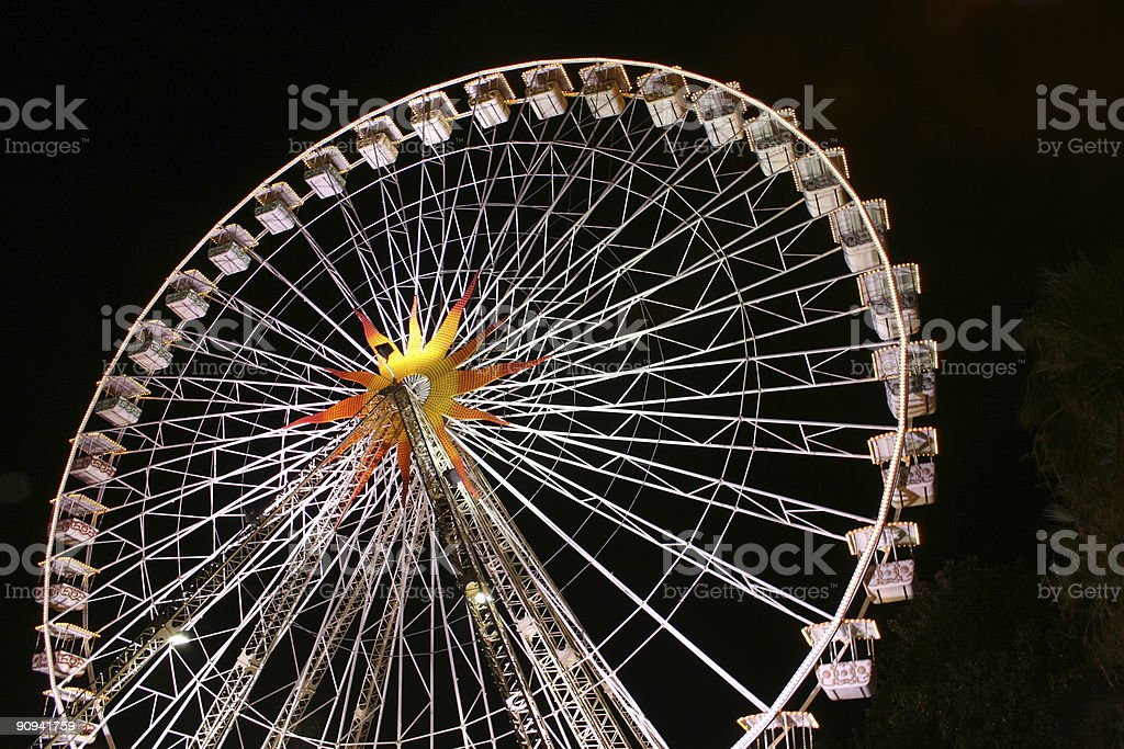 Still ferris wheel royalty-free stock photo