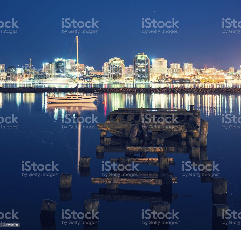 Still Halifax Harbour stock photo