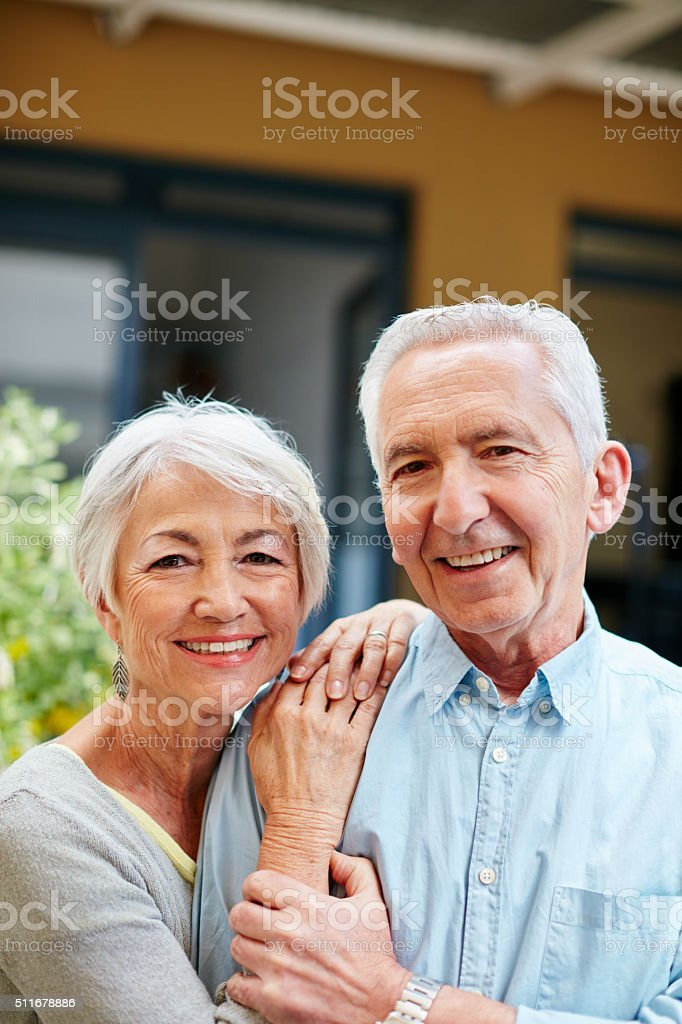 Still in love after all these years stock photo