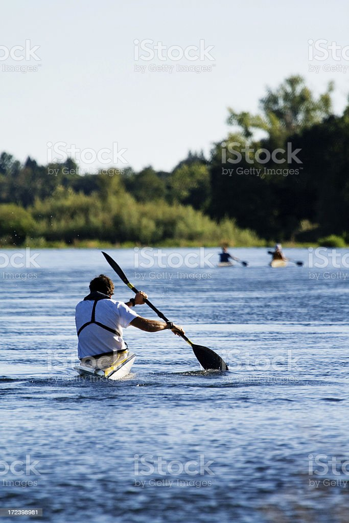 Still Kayaking royalty-free stock photo