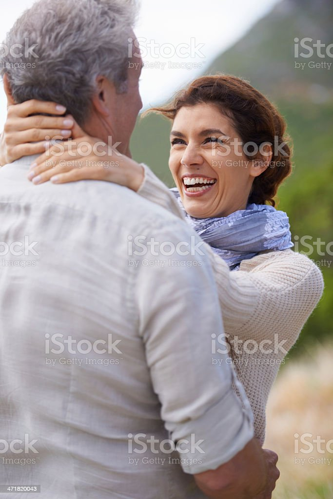 Still laughing after all these years royalty-free stock photo
