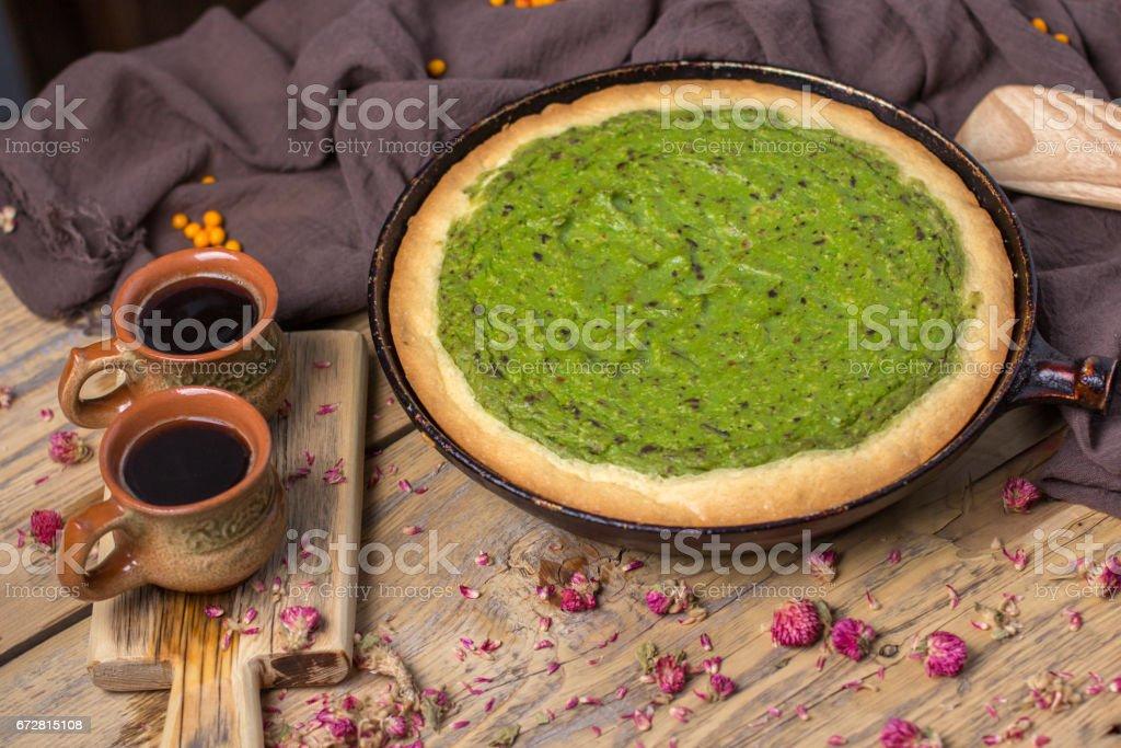 Still life - avocado pie stock photo