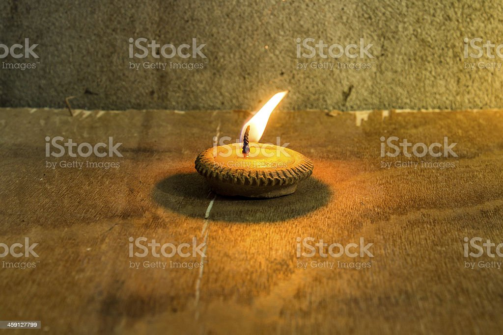 Still life - Candle in Loi Krathong Festival stock photo