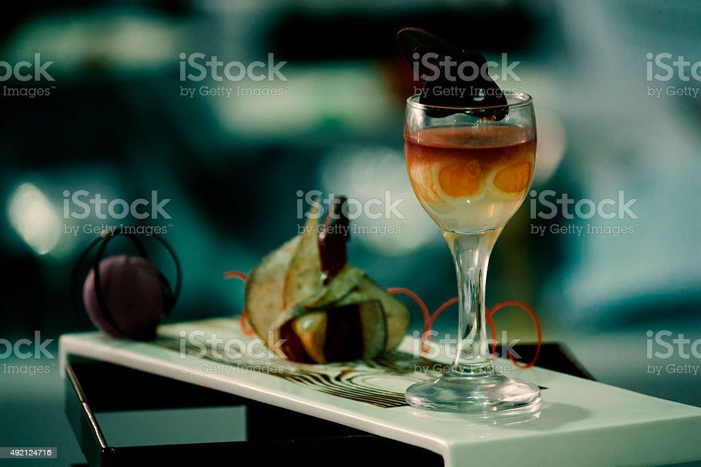 still life dessert, organic food and drink photo stock photo
