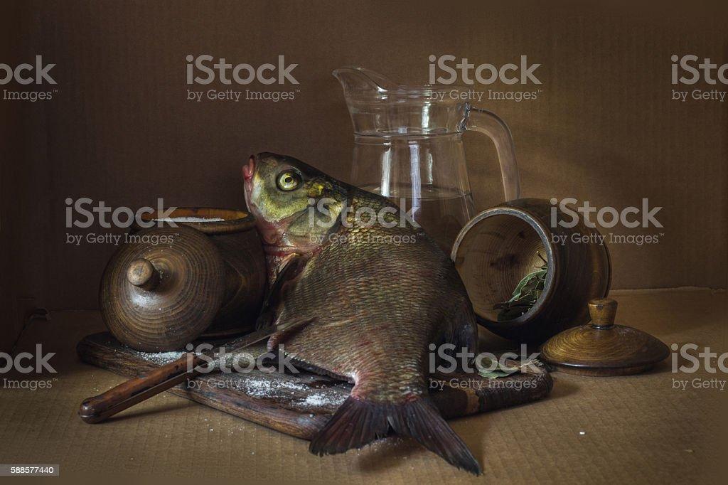 still life fish stock photo