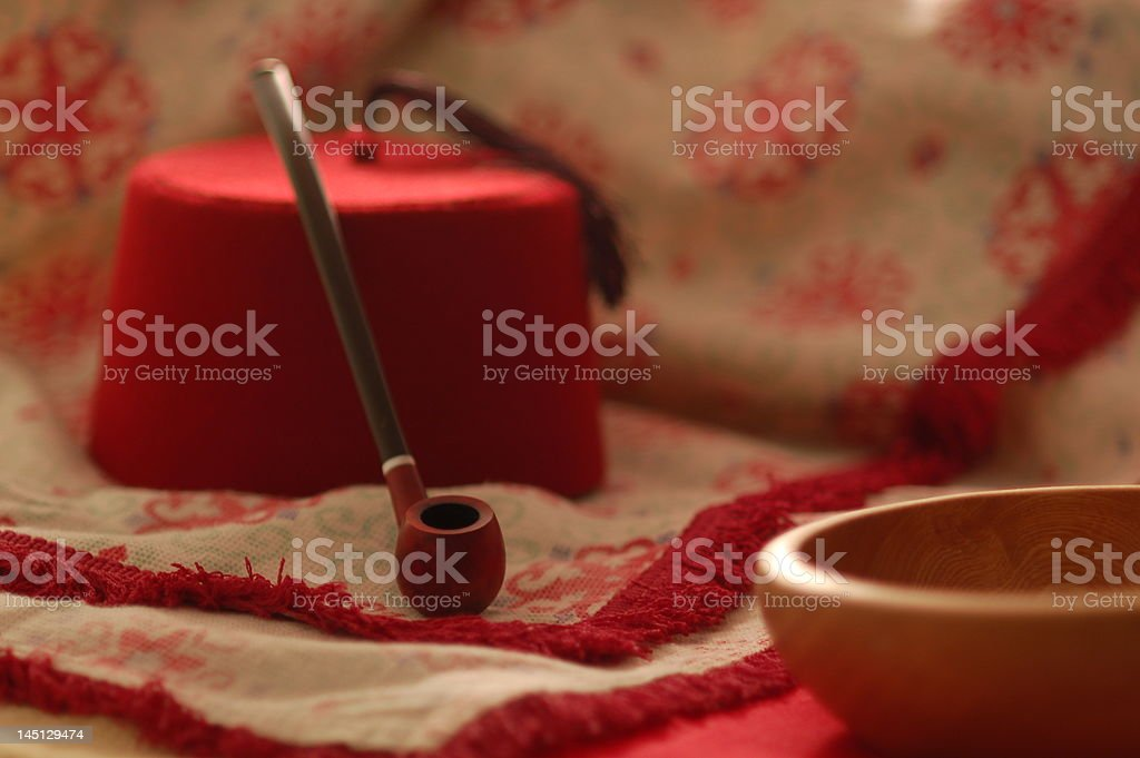 still life in red, turkish style royalty-free stock photo