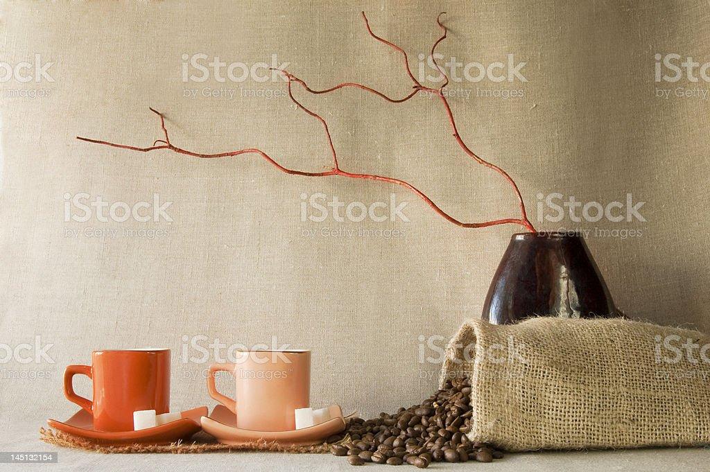 still life of coffee royalty-free stock photo