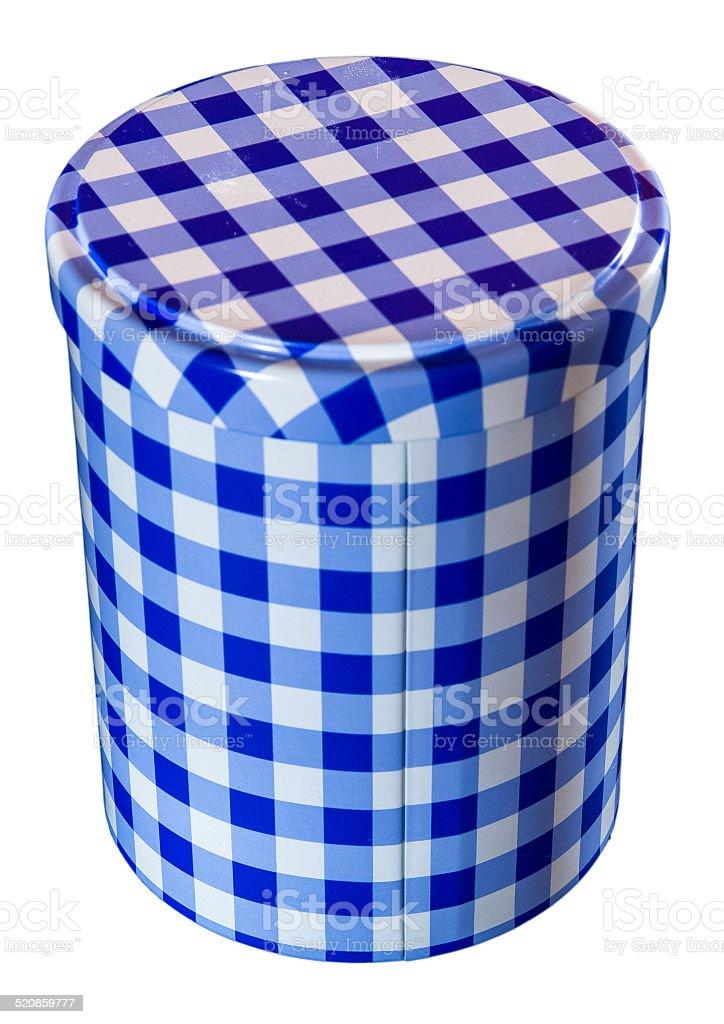 Still life of cylindrical box stock photo