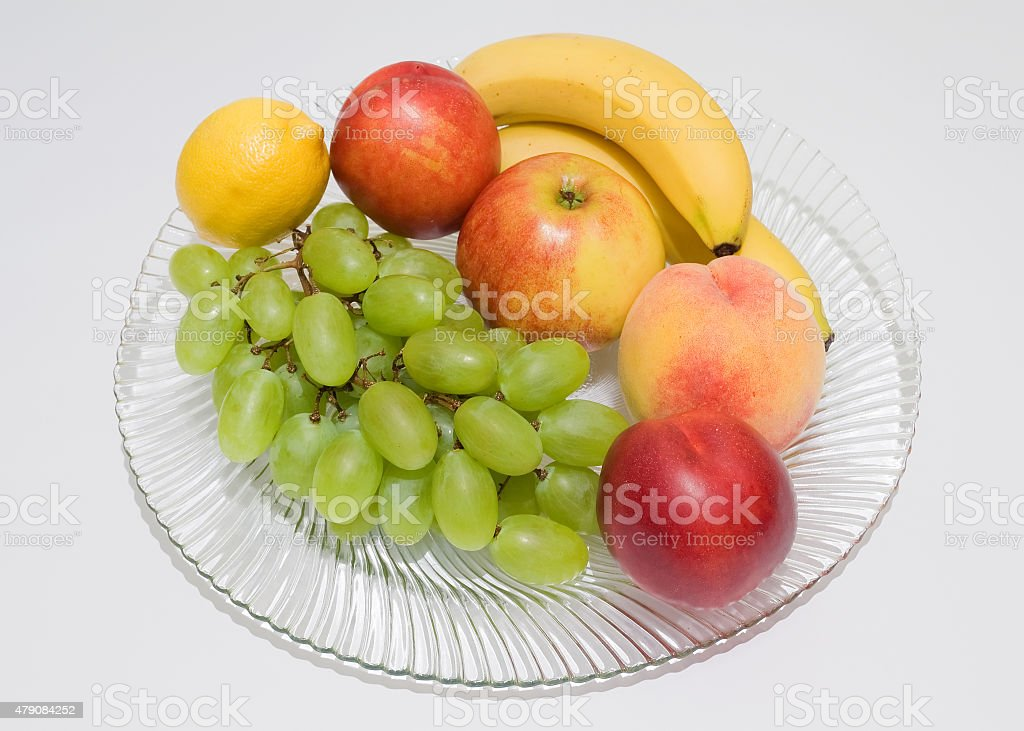Still life of fresh fruit stock photo