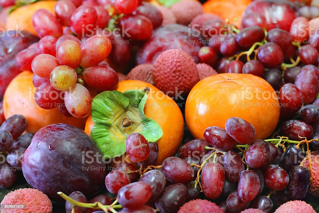 still life of fruits and berries stock photo