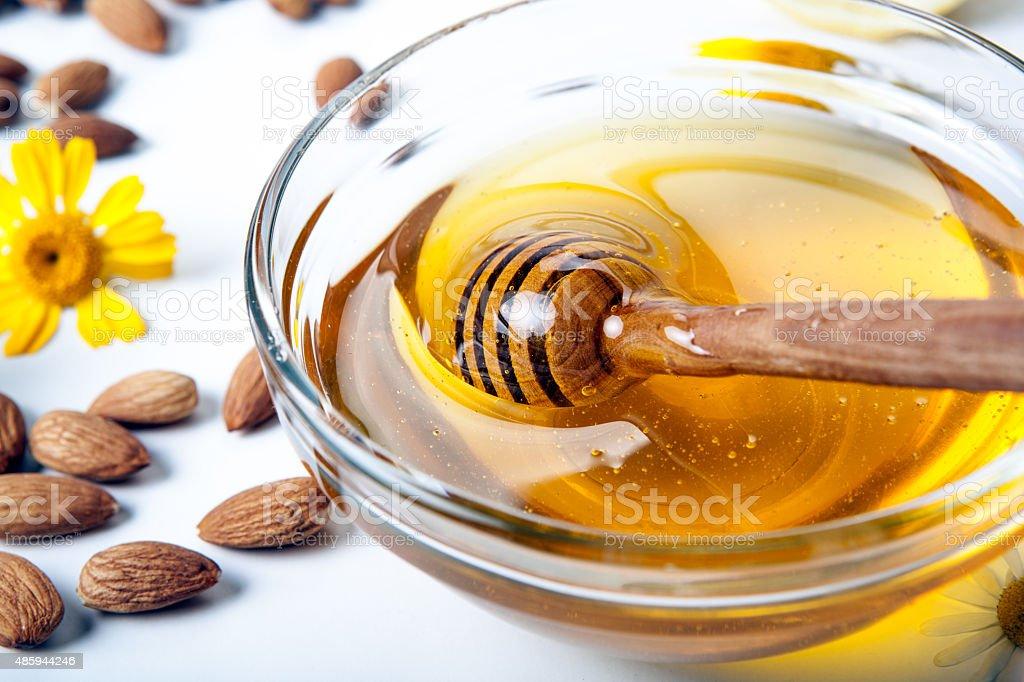 still life of honey stock photo