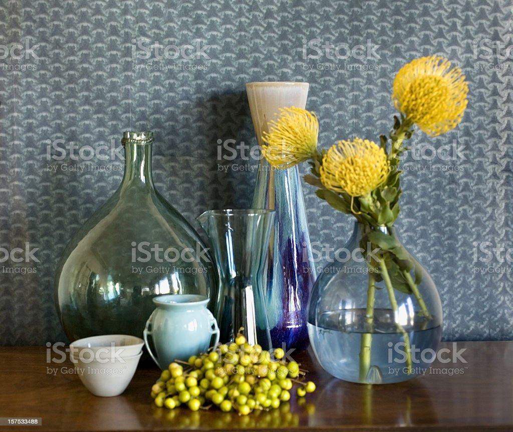 Still life of vases royalty-free stock photo