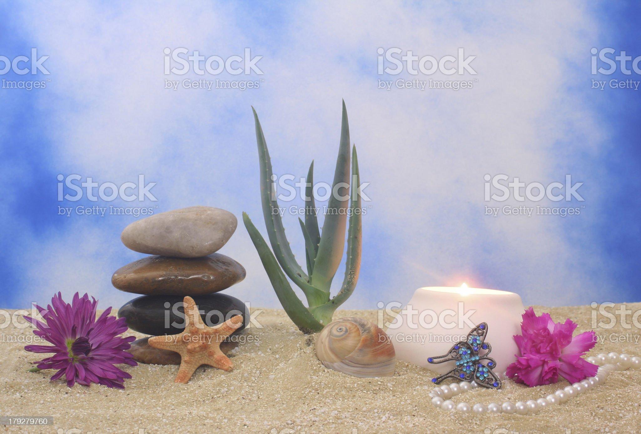 Still Life on Beach royalty-free stock photo
